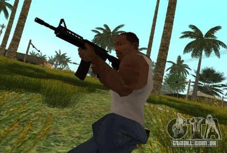 M4 CQB para GTA San Andreas por diante tela