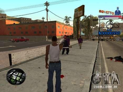 O novo C-HUD do Gueto para GTA San Andreas terceira tela