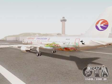 Airbus A320-211 China Eastern para GTA San Andreas traseira esquerda vista
