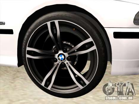 BMW 530d E39 para GTA San Andreas vista superior