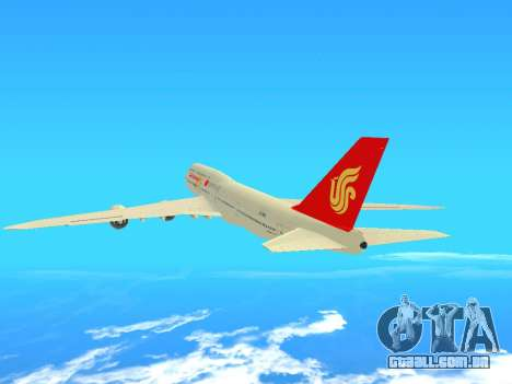 Boeing 747 Air China para GTA San Andreas vista traseira