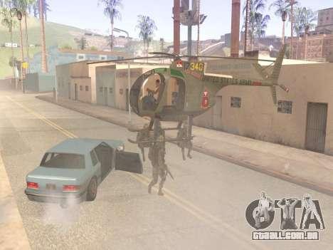 OH-6 Cayuse para GTA San Andreas vista traseira