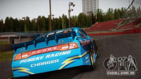 Dodge Charger NASCAR Sprint Cup 2012 para GTA San Andreas esquerda vista