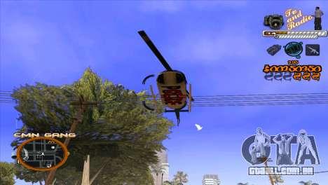 C-HUD TV-Centro para GTA San Andreas quinto tela