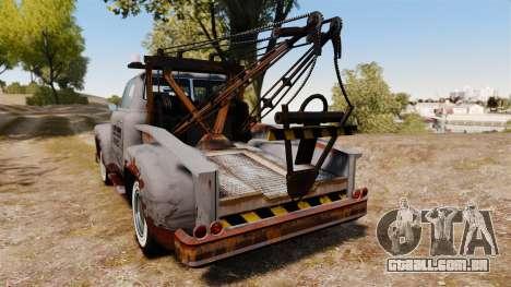 GTA IV TLAD Vapid Tow Truck para GTA 4 traseira esquerda vista