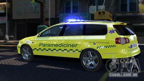 Volkswagen Passat Variant 2010 Paramedic [ELS] para GTA 4 esquerda vista