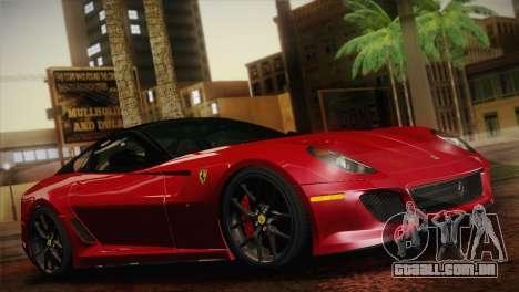 Ferrari 599 GTO 2011 para GTA San Andreas