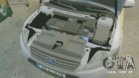 Ford Mondeo Hungarian Police [ELS] para GTA 4 vista interior