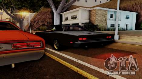 Dodge Coronet RT 1969 440 Six-pack para GTA San Andreas vista inferior