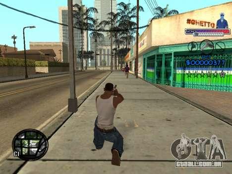 O novo C-HUD do Gueto para GTA San Andreas sexta tela