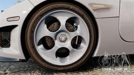 Koenigsegg CCX para GTA 4 vista de volta