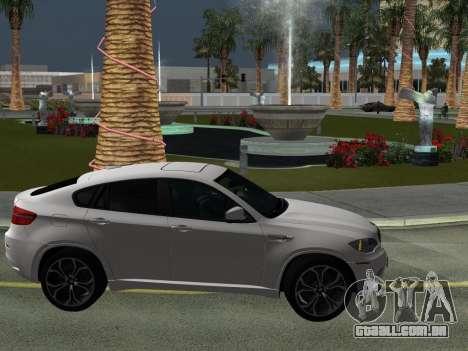BMW X6M 2010 para GTA San Andreas vista superior