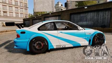 BMW M3 GTR 2012 Most Wanted v1.1 para GTA 4 esquerda vista