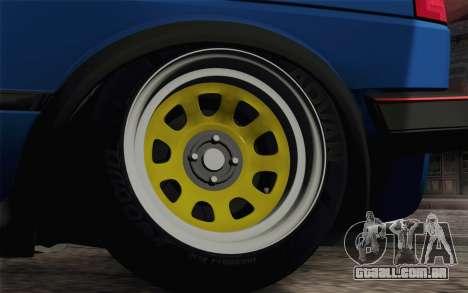 Volkswagen Golf MK2 LowStance para GTA San Andreas vista traseira