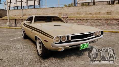 Dodge Challenger RT 1972 para GTA 4
