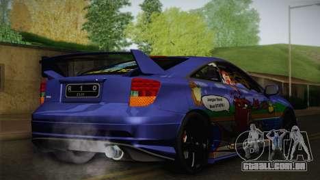 Toyota Celica Taz Mania Street Edition para GTA San Andreas traseira esquerda vista