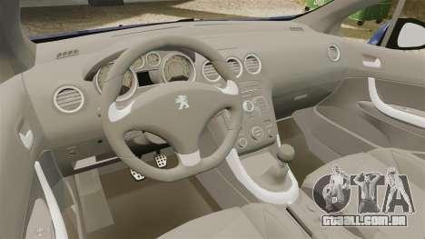 Peugeot 308 GTI para GTA 4 vista interior