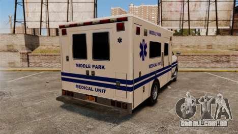 Brute MPMU Ambulance para GTA 4 traseira esquerda vista