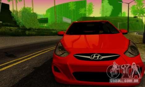 Hyndai Solaris para GTA San Andreas traseira esquerda vista