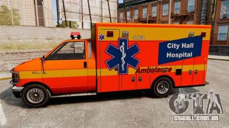 Brute CHH Ambulance para GTA 4 esquerda vista