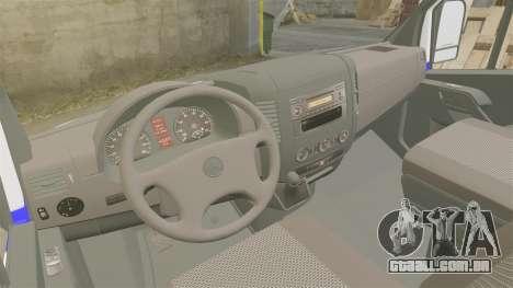 Mercedes-Benz Sprinter Itella Logistics para GTA 4 vista de volta