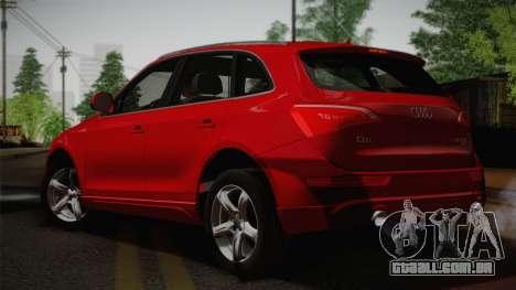 Audi Q5 2012 para GTA San Andreas esquerda vista