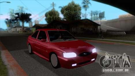 Ford Escort 1996 para GTA San Andreas vista traseira
