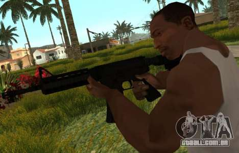 M4 CQB para GTA San Andreas terceira tela