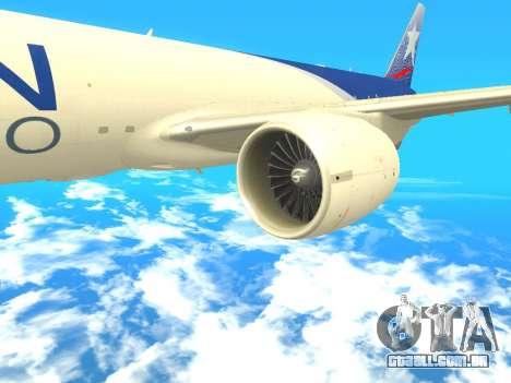 Boeing 777 LAN Cargo para GTA San Andreas vista direita