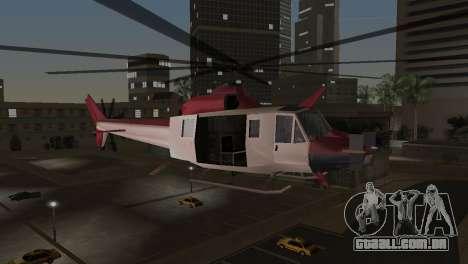 Bell HH-1D para GTA Vice City vista traseira esquerda