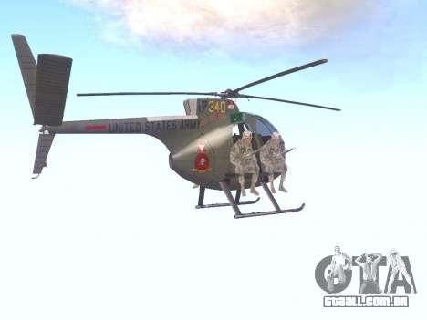 OH-6 Cayuse para GTA San Andreas vista direita
