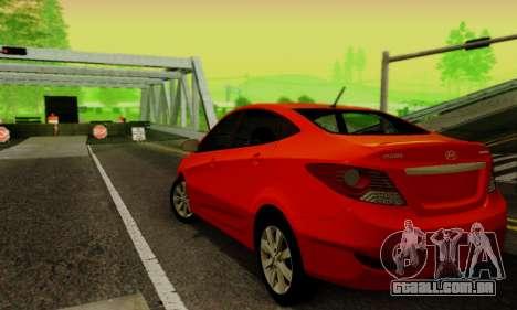Hyndai Solaris para GTA San Andreas vista traseira
