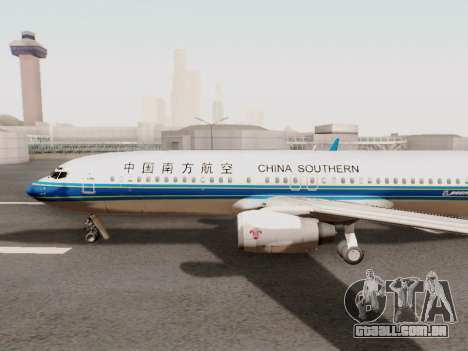 China Southern Airlines Boeing 737-800 para GTA San Andreas traseira esquerda vista