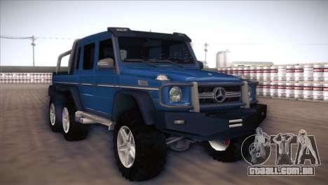 Mercedes-Benz G63 AMG 6X6 para GTA San Andreas esquerda vista