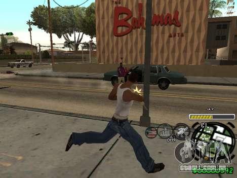 C-HUD Andy Cardozo para GTA San Andreas por diante tela