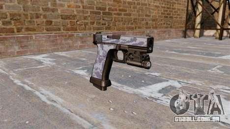 A Pistola Glock De 20 Blue Tiger para GTA 4