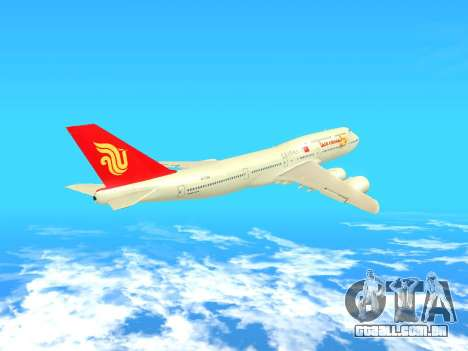 Boeing 747 Air China para GTA San Andreas vista interior