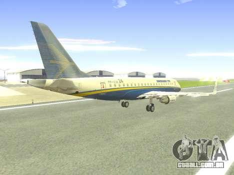Embraer 175 HOUSE para GTA San Andreas vista superior