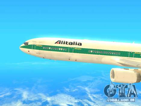 McDonnell Douglas MD-11 Alitalia para GTA San Andreas esquerda vista