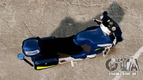 BMW R1150RT Gendarmerie [ELS] para GTA 4 vista direita