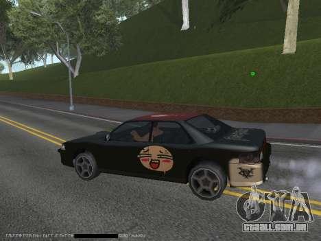Vinis para Sultan para GTA San Andreas vista traseira