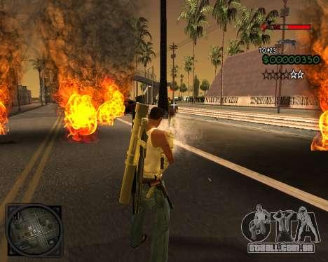 C-HUD Lite v2.0 para GTA San Andreas por diante tela