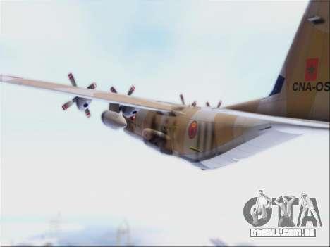 C-130 Hercules Royal Moroccan Air Force para GTA San Andreas vista traseira