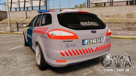 Ford Mondeo Hungarian Police [ELS] para GTA 4 traseira esquerda vista