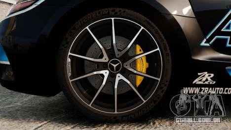 Mercedes-Benz SLS 2014 AMG Black Series Area 27 para GTA 4 vista de volta