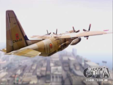 C-130 Hercules Royal Moroccan Air Force para GTA San Andreas vista direita