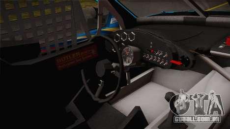 Dodge Charger NASCAR Sprint Cup 2012 para GTA San Andreas traseira esquerda vista
