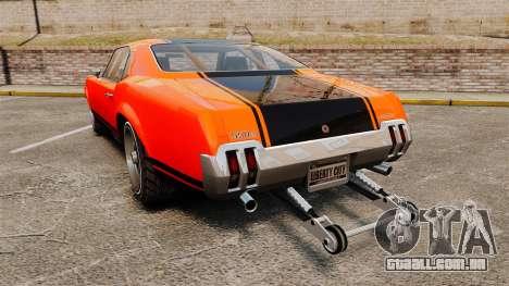 Declasse SabreGT new wheels para GTA 4 traseira esquerda vista