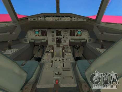 Airbus A320-200 WizzAir para GTA San Andreas vista interior