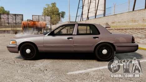 Ford Crown Victoria 2008 LCPD Detective [ELS] para GTA 4 esquerda vista